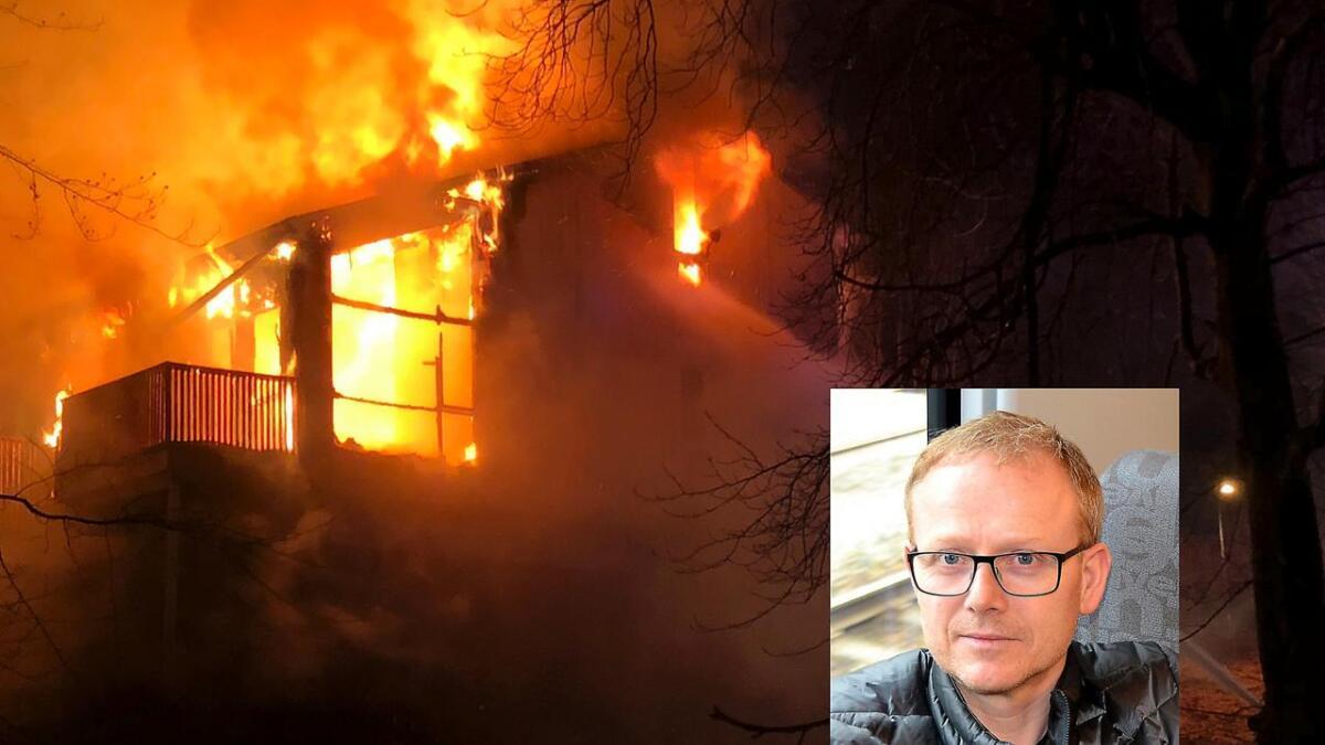 Eirik Verpelstad var mellom dei første som kom til brannstaden på Dale.