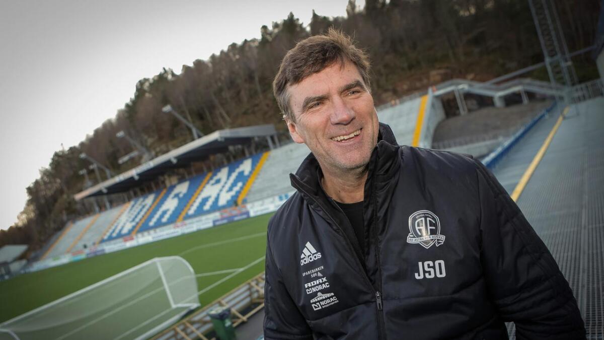 Jan Sigurd Otterlei er styreleder i Arendal Fotball, som håper på opprykk til 1. divisjon.
