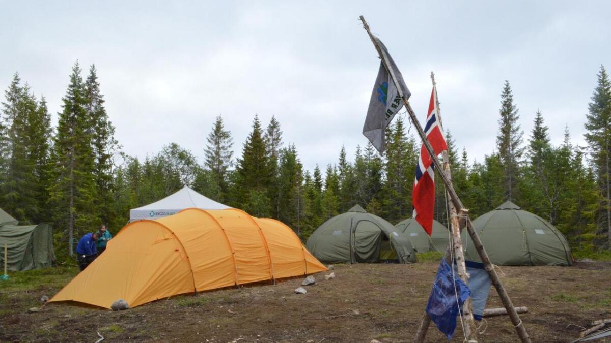 Teltleiren er klar til å ta imot ca 50 speidere fra Bodø i sør til Narvik, Harstad og Vesterålen.