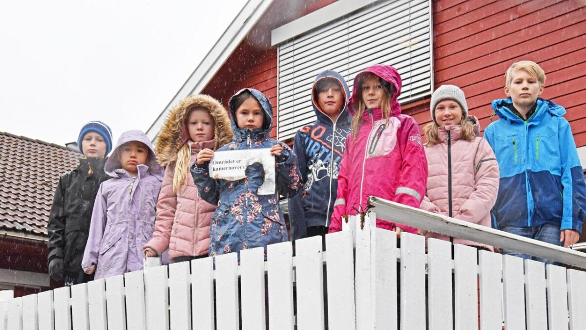Noah Ramselien (10), Marthe Urdal (6), Sofie Hagen (7), Åse Knobel (8), Sawyer Tenney (11), Amalie Krumins (9), Tonje Fauske (11) og Aron Ramselien (12). Alle