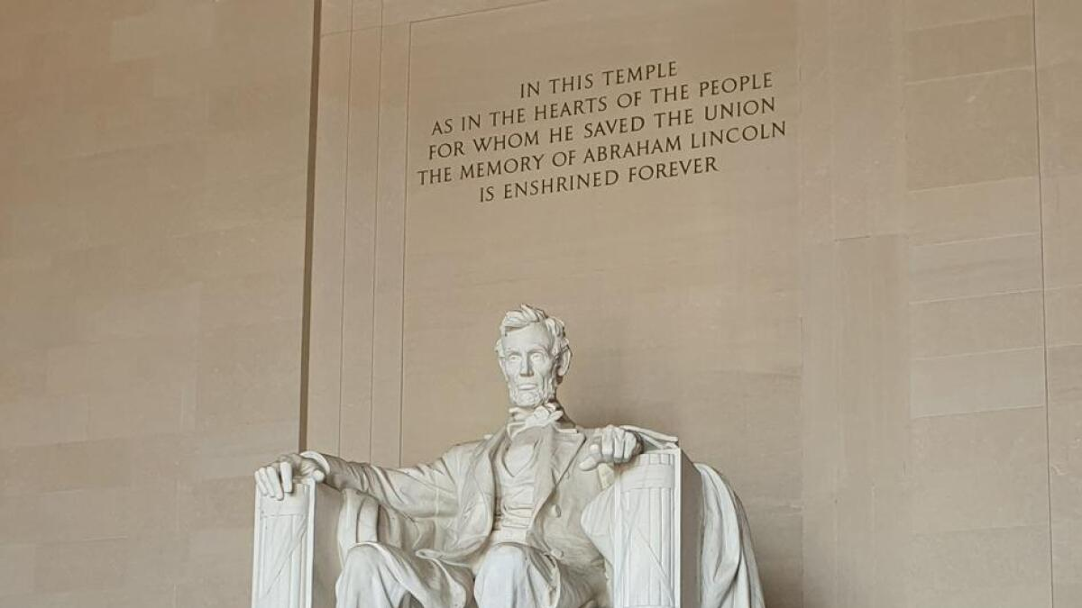 Lincolnmonumentet i Washington var én av flere turistattraksjoner å se i Washington DC.