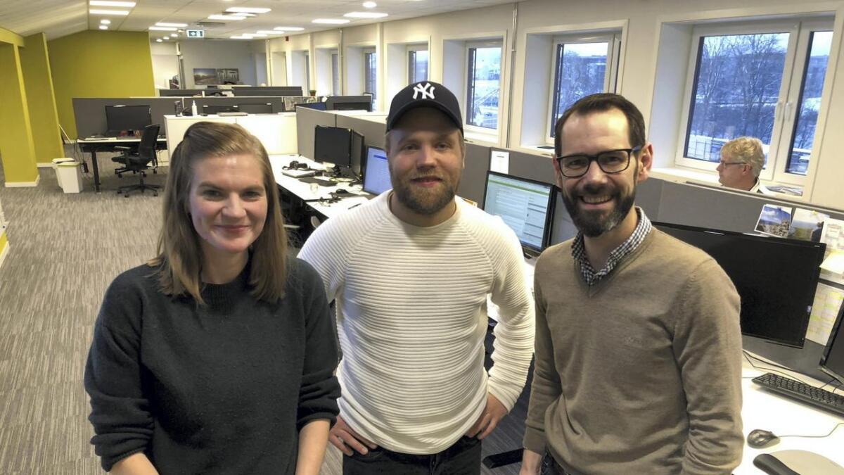 Sjefredaktør Tom Erik Thorsen er glad for å styrke redaksjonen med to allerede erfarne journalister, som Jonas Fossing og Caroline TarAngen.