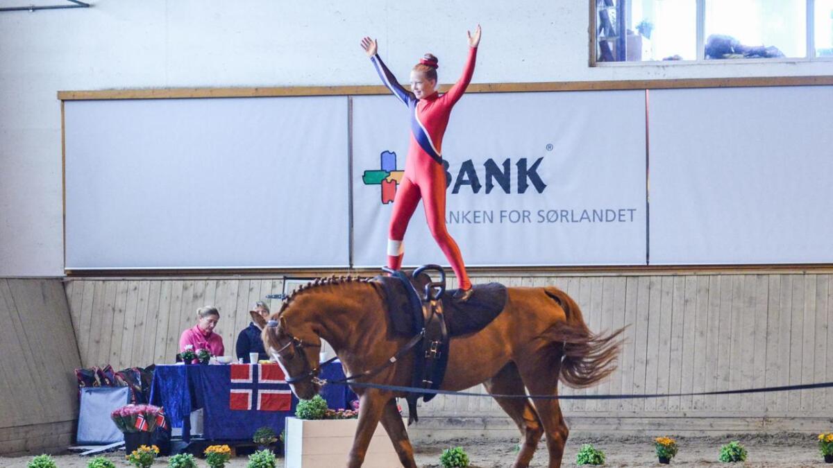 Sara Rislå Ekeberg (11)  fra Lillesand, også på Tiali.