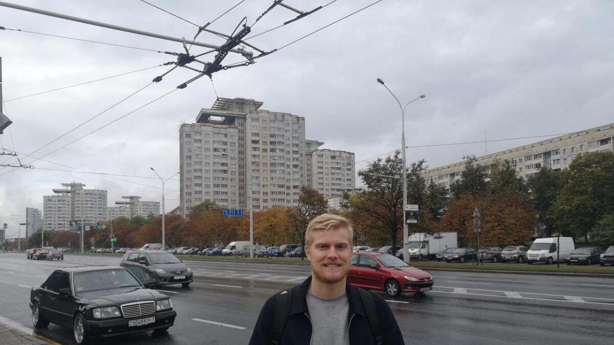 Tidligere Odd-spiller Emil Jonassen møtte Varden for en lenger prat i den hviterussiske hovedstaden.