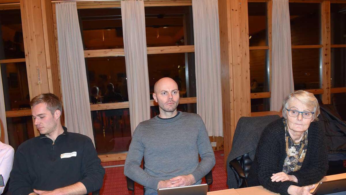 Ole Søren Sverdrup Lund, Lars Tarald Myrum og Malmfrid Homme, alle Sp.