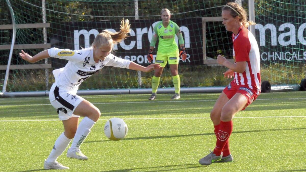 Ida Holm Neset stod for utlikninga til 1-1, men dette skulle bli dagen då Stord gjekk på sitt første stortap i 2. divisjon. Arkiv