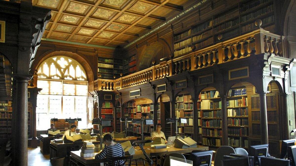 Bodleian Library i Oxford er blant de eldste bibliotekene i Europa.
