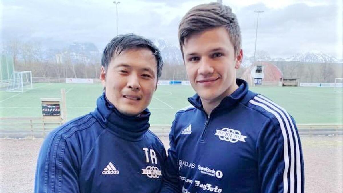 Melbo-trener Thomas Rønning (t.v.) styrker stallen med Erik Burchardt.