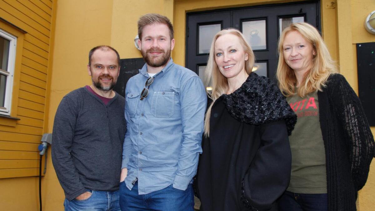 Pål Winsents (t.v.), Tom Marius Kittilsen, Jeanne Bø og Solfrid Nikita Tveit Holand fikk penger til sine prosjekter. 8
