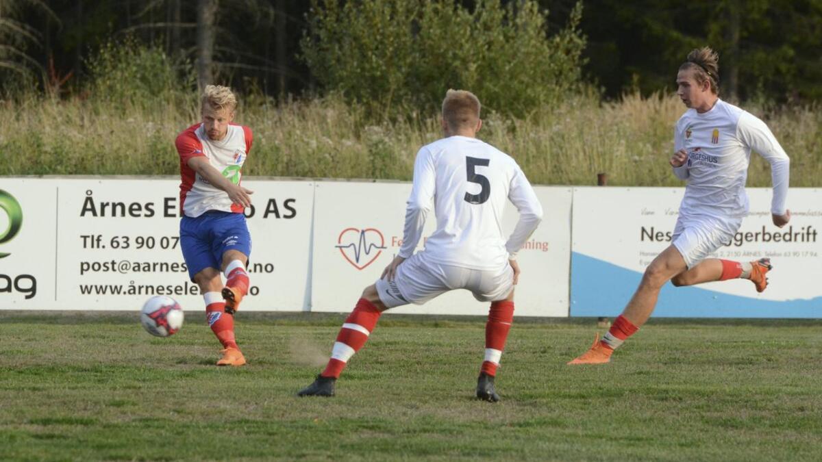 Kim Brenna ble dagens mann for FUVO med sine tre scoringer borte mot Sørumsand. Dette bildet er fra et tidligere oppgjør.