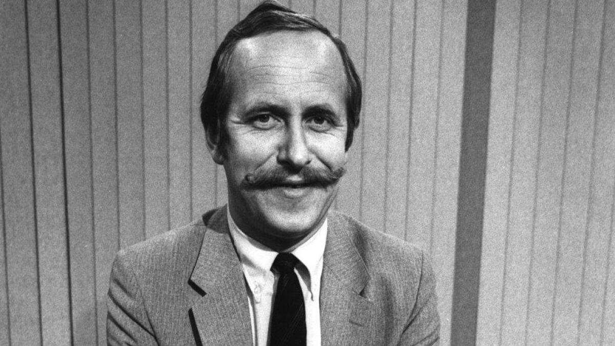 Tore Johannessen i Dagsrevystudio. 1982.