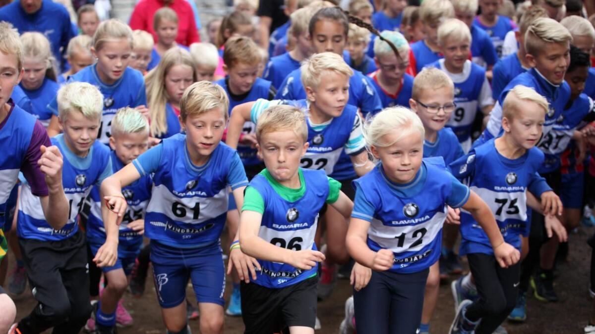 Skolekampen, et løp som går på rundt tre kilometer, hadde rekorddeltakelse med 100 deltakere.