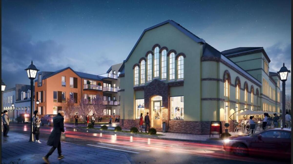 Den 120 år gamle skolen i Kristiansand skal blant annet inneholde 53 leiligheter og restaurant.