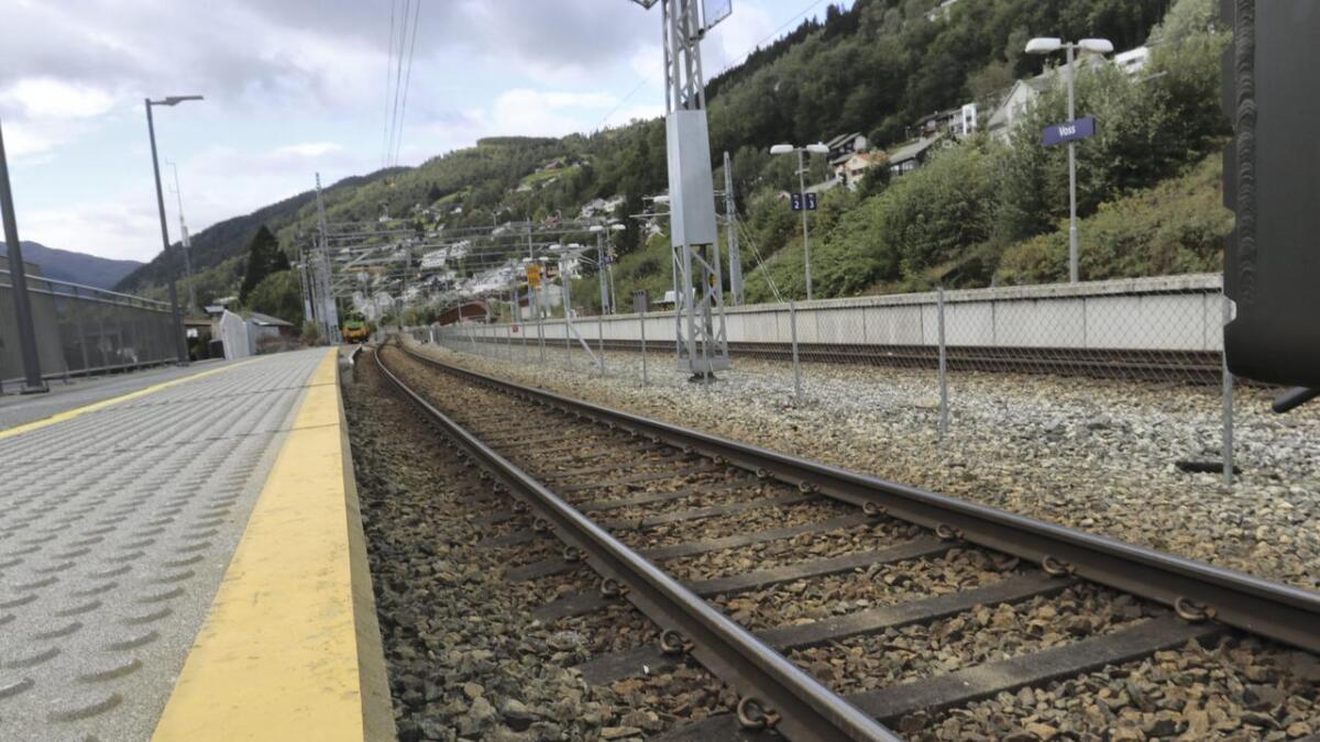Togstasjonen på Voss.