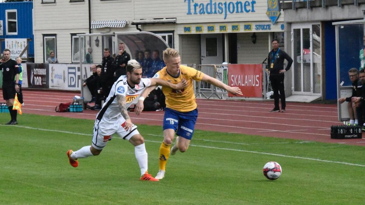 Jerv og Sandefjord i duell under andre runde i cupen.