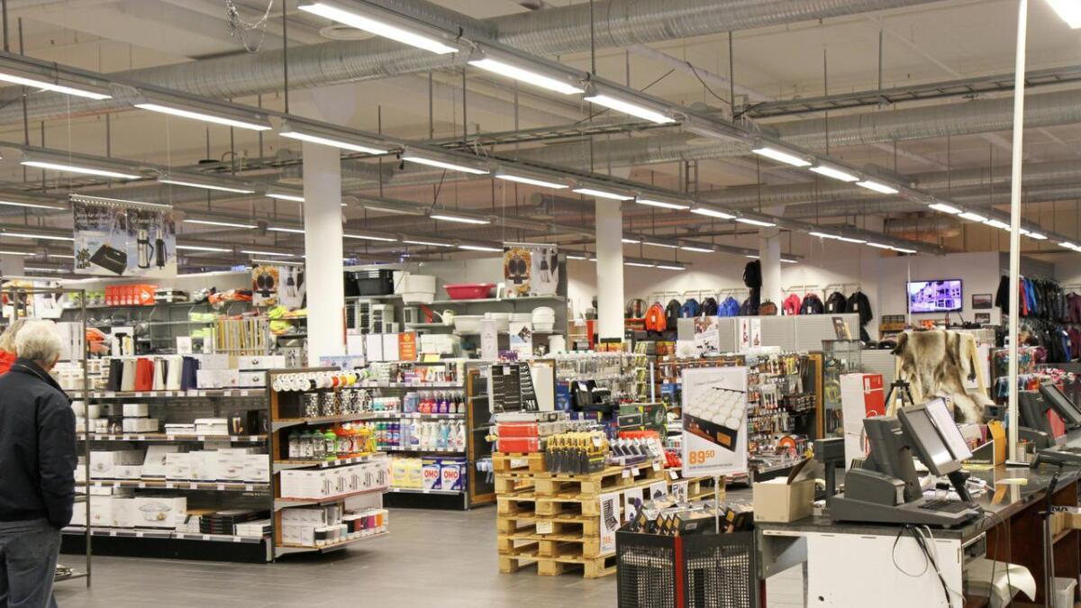 Fristadsenteret er et av de største butikklokalene i Vinje kommune.