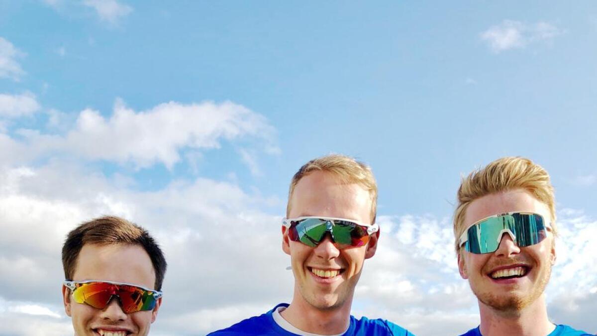 August Nordeng, Arnt Gunnar Winther og Mikkel Arntsen gleder seg til å konkurrere på rulleski opp Storheia.
