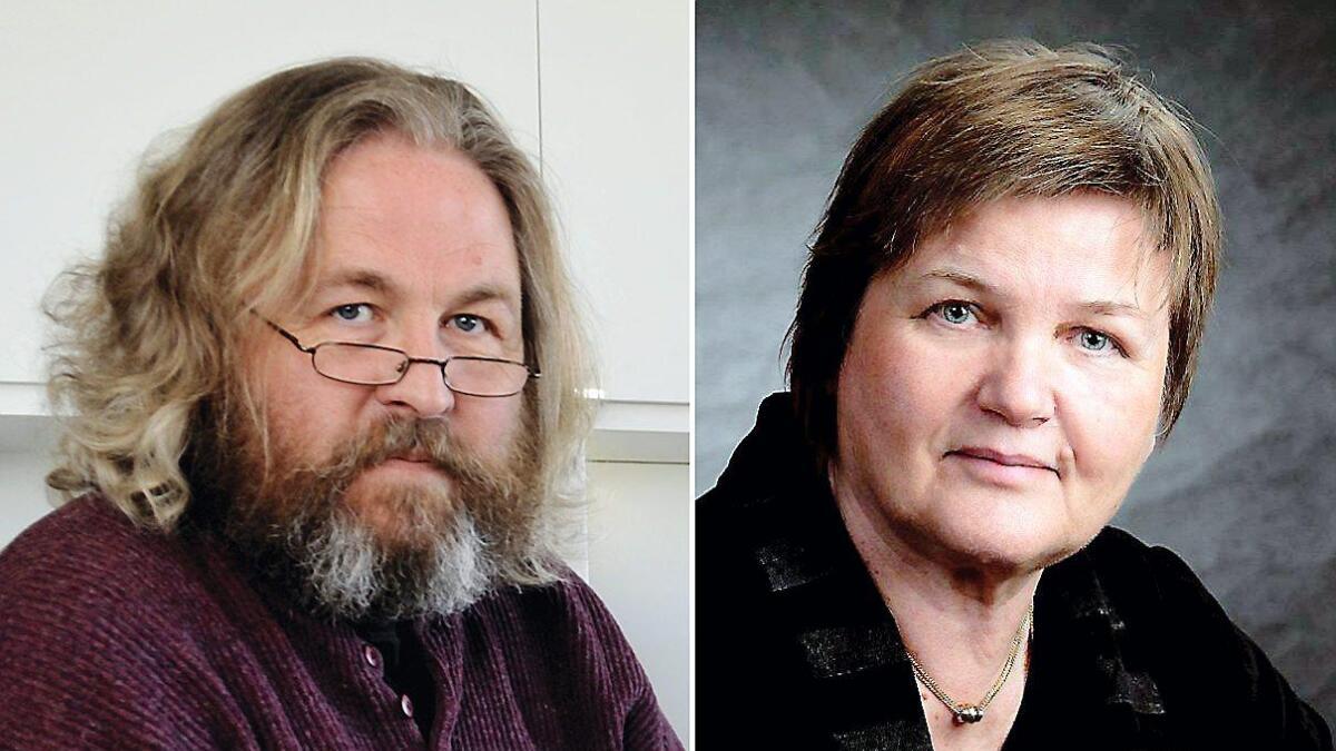 Lokalhistoriker Frode Mindrebø og seniorforsker Anne Tone Aanby.