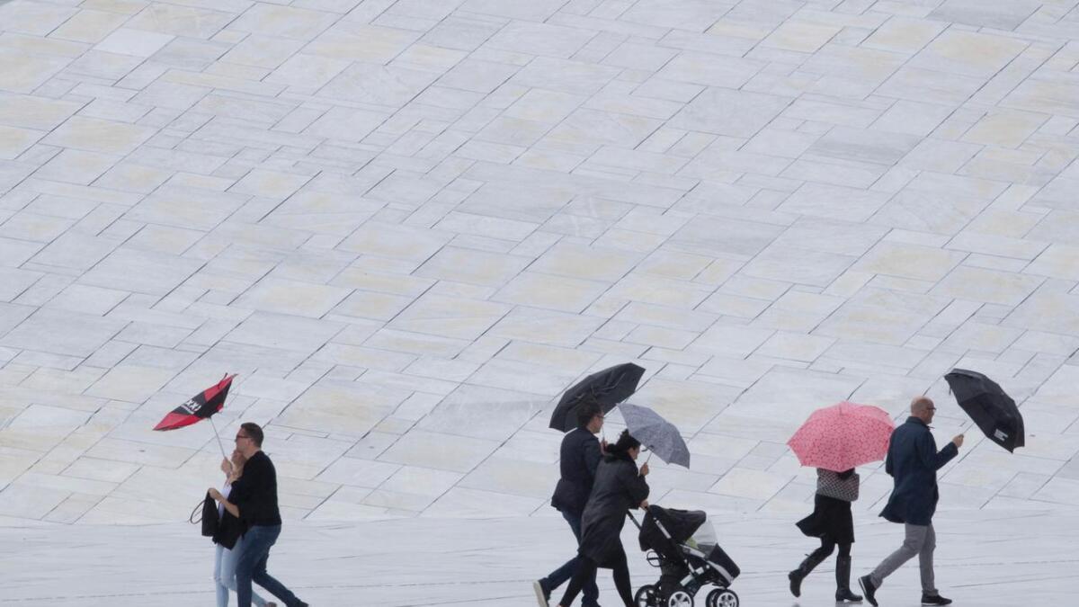 Det er ventet kraftig regnvær den kommende helgen.