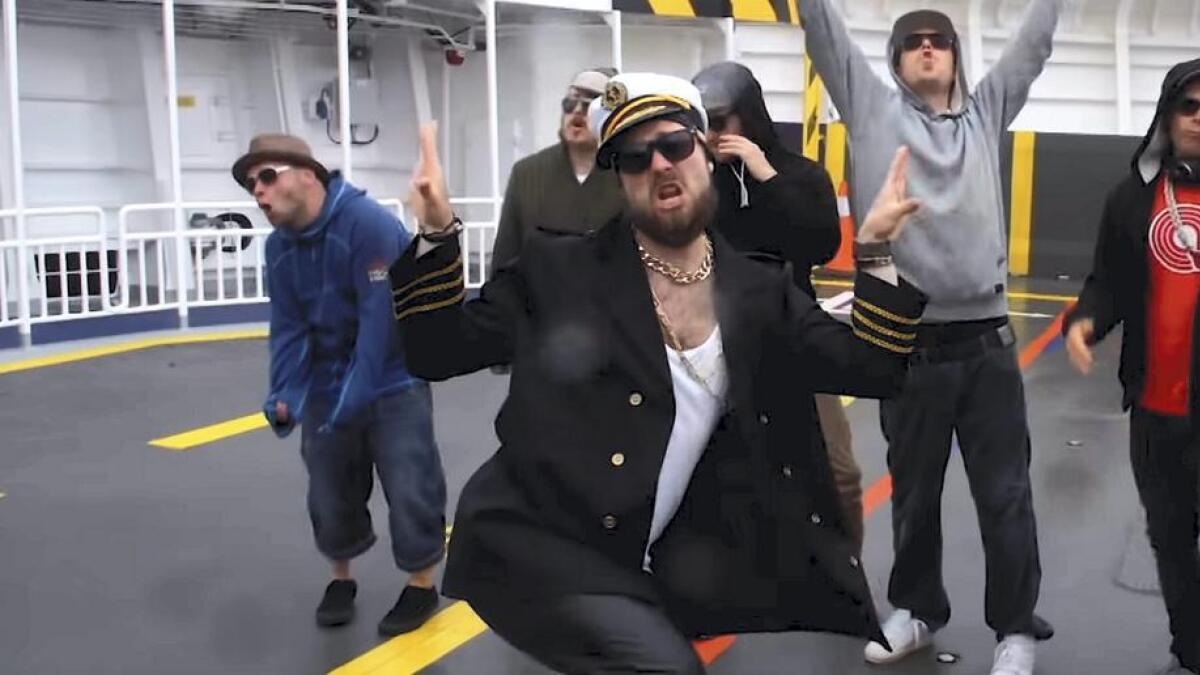 Lille Fer-G og crewet laga musikkvideo av rappen «Torghatten passar».