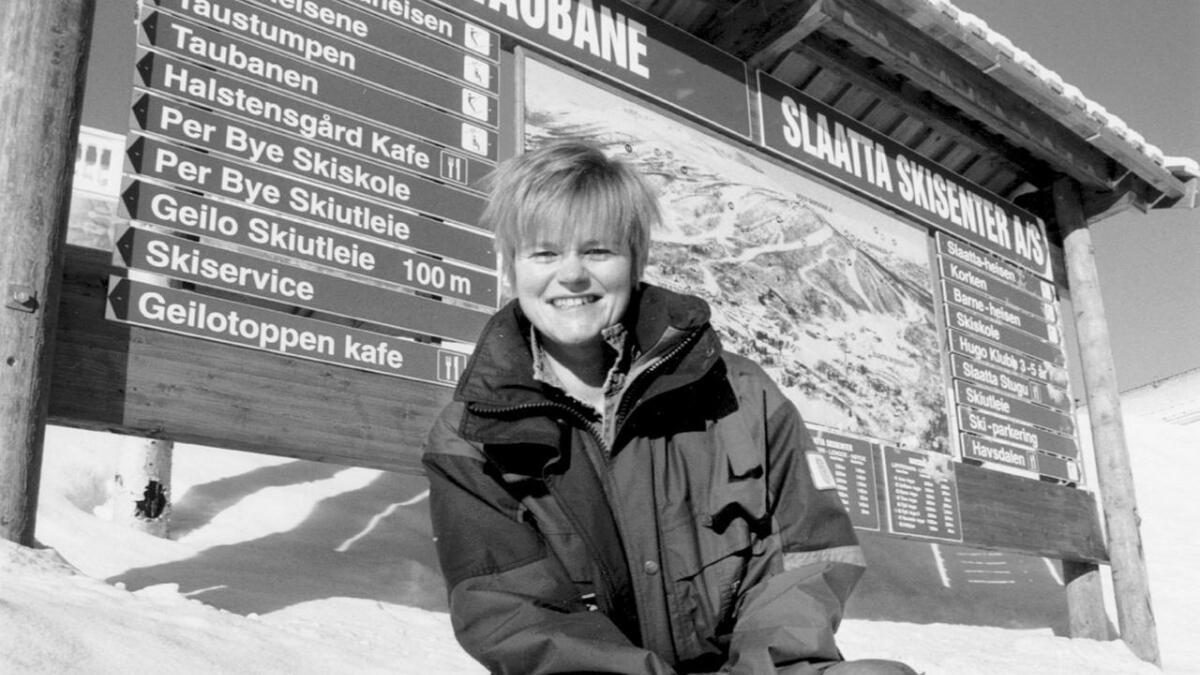Birgit Haugen i 1997, då ho var turistsjef på Geilo og leiar for Geilo Skiheiser. (Arkiv).