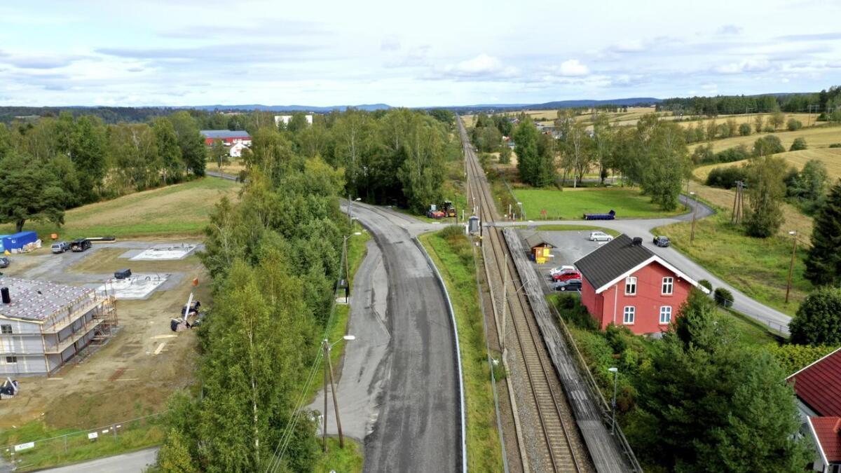 Her på denne rette strekningen fra Bodung stasjon og nordover skal det bygges kryssingsspor. Planleggingen er nå i gang for alvor.