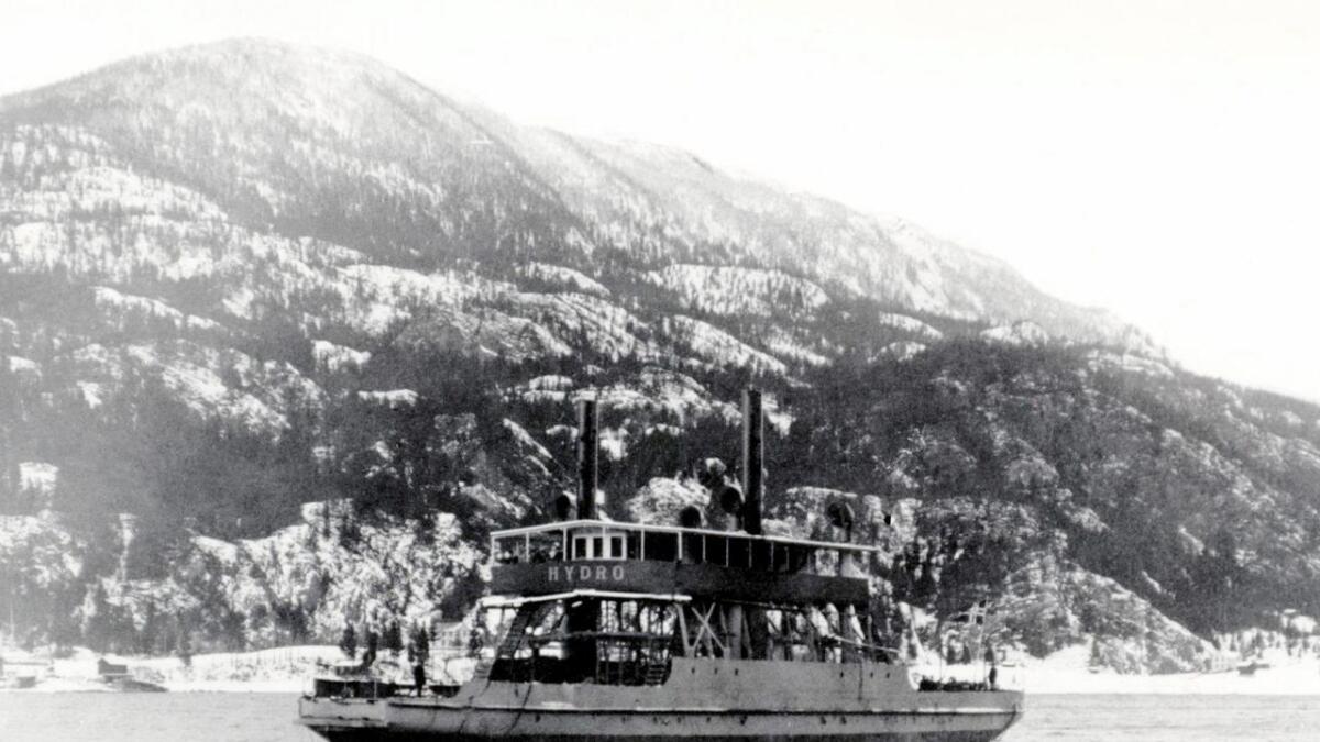 MF Hydro Tinnsjø ble senket i 1944.