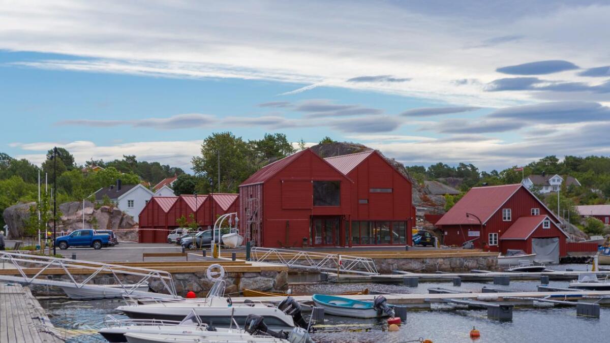 Gamle Lyngør båtbyggeri er erstattet med nye Lyngørfjorden kystkultursenter.