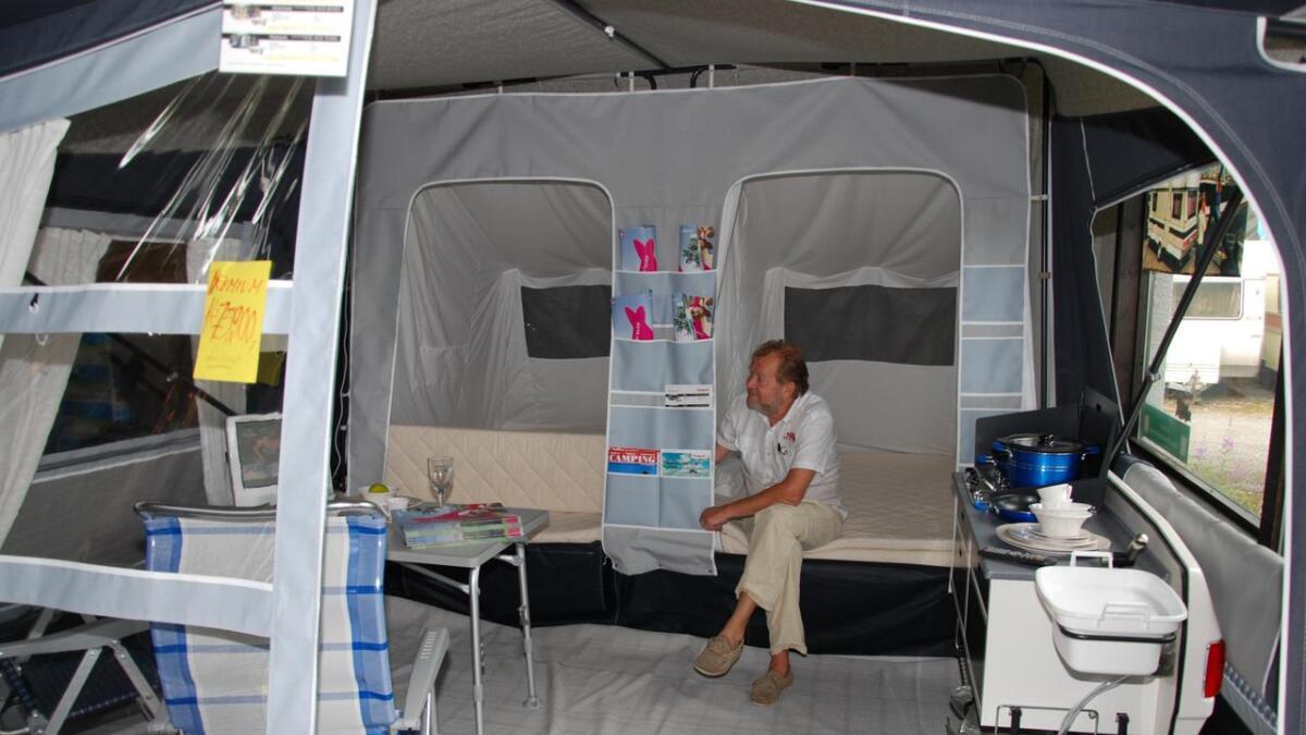 Stadig flere velger teltvogn på tur