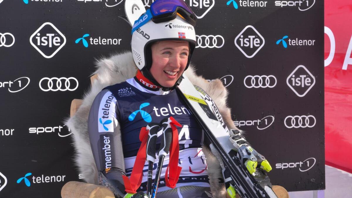 Maria Tviberg i leiarstolen under alpint-NM i Hemsedal 2019.