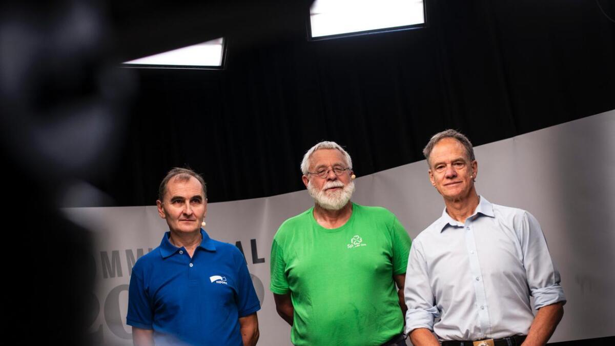 Ordførarkandidatane i Nore og Uvdal, Nils Helge Tufto (H), Lars Inge Enerstvedt (Sp) og Jan Gaute Bjerke (Ap) møttest til TV-duell i Hallingdølen.