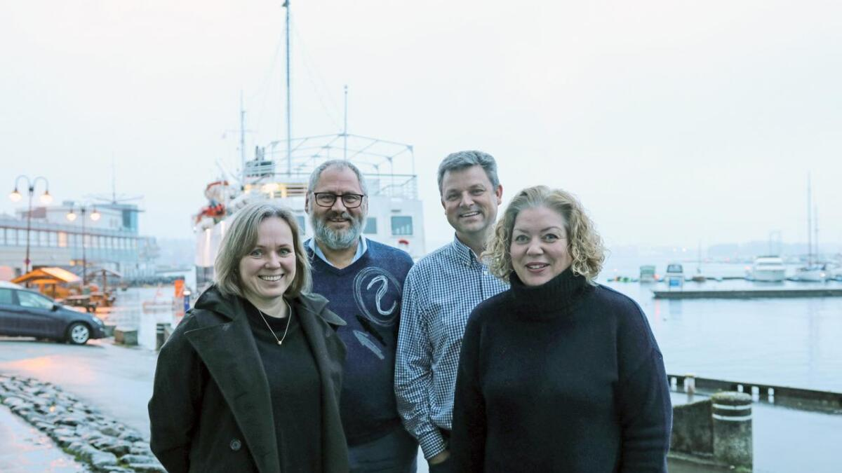 Marianne Pleym (til v.), Frode Larsen, Geir Lund og Aase Lilleskare Lund reiser snart saman med tre andre til Haiti.