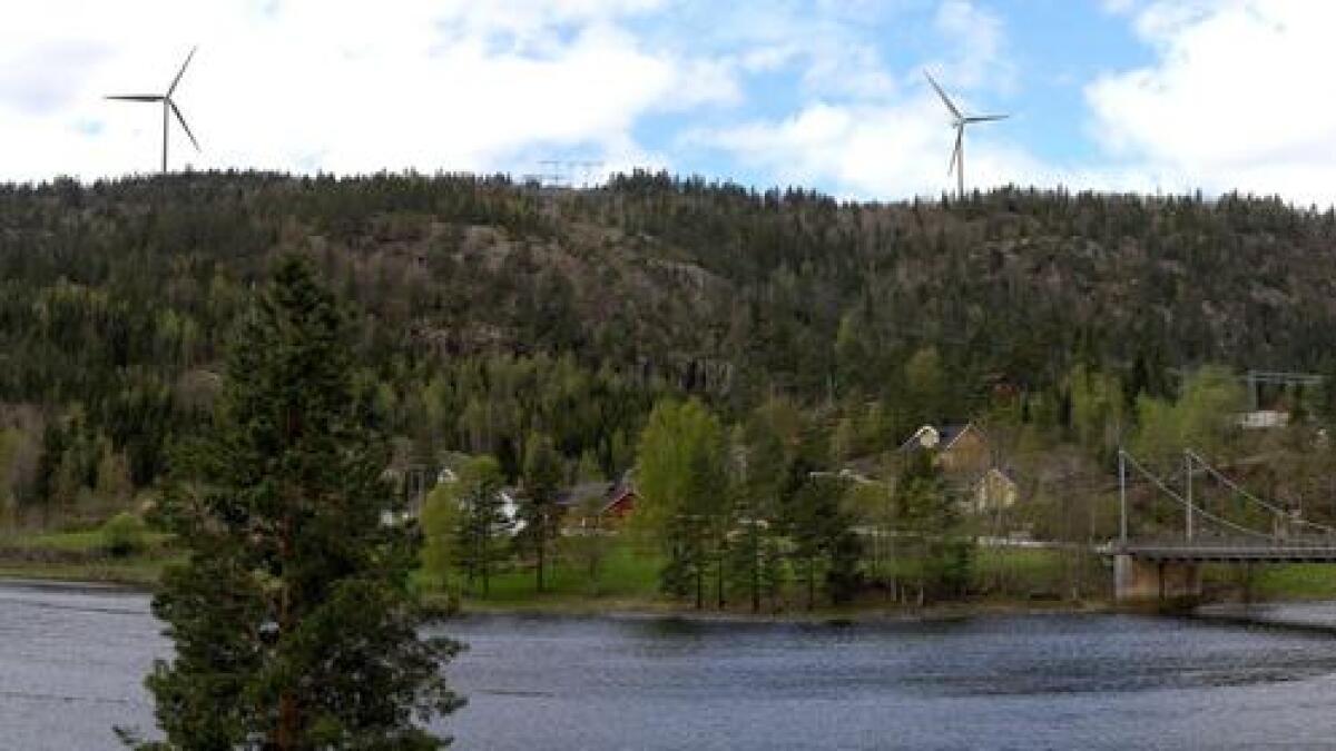 Slik kan det hende at noen av vindturbinene vil se ut fra Rislå ved Senumstadbrua.