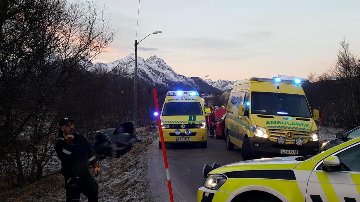 To biler var involvert i ulykka på Frøskeland.