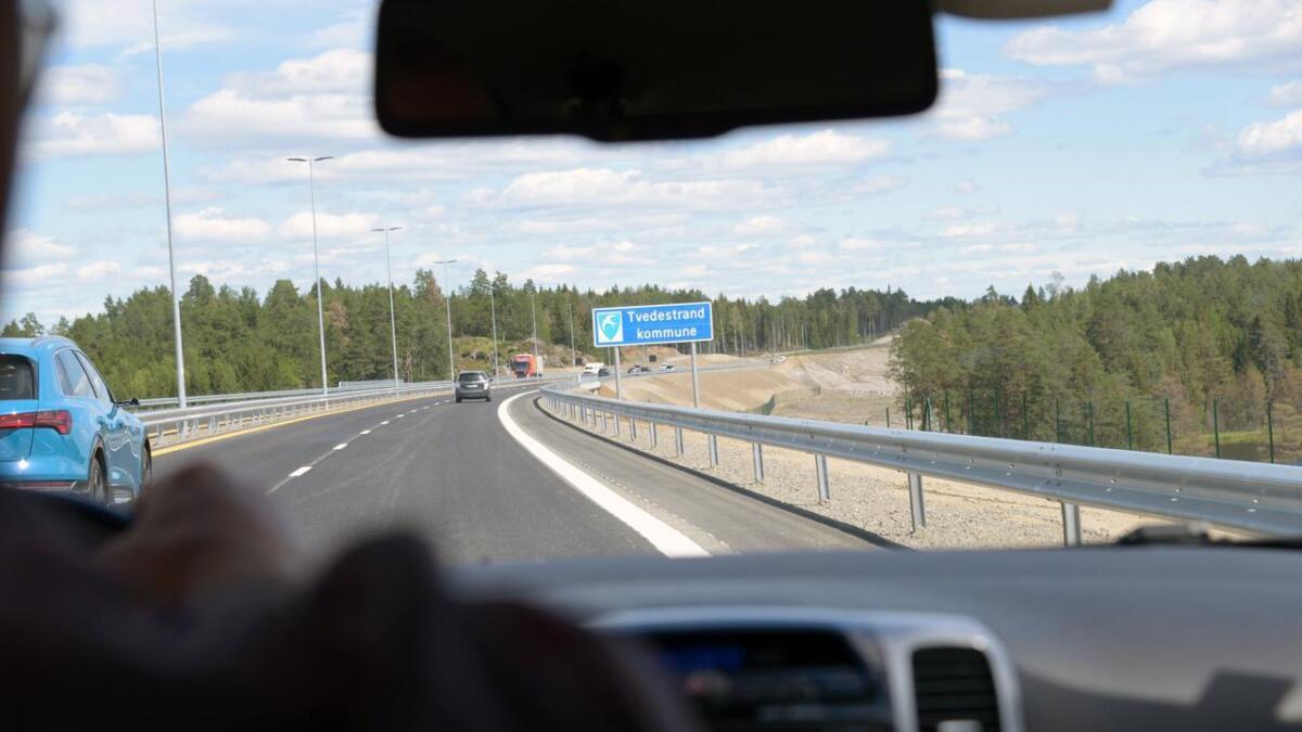 Nye E18 mellom Tvedestrand og Arendal. Bildet er tatt i en annen sammenheng - ILLUSTRASJONSFOTO.