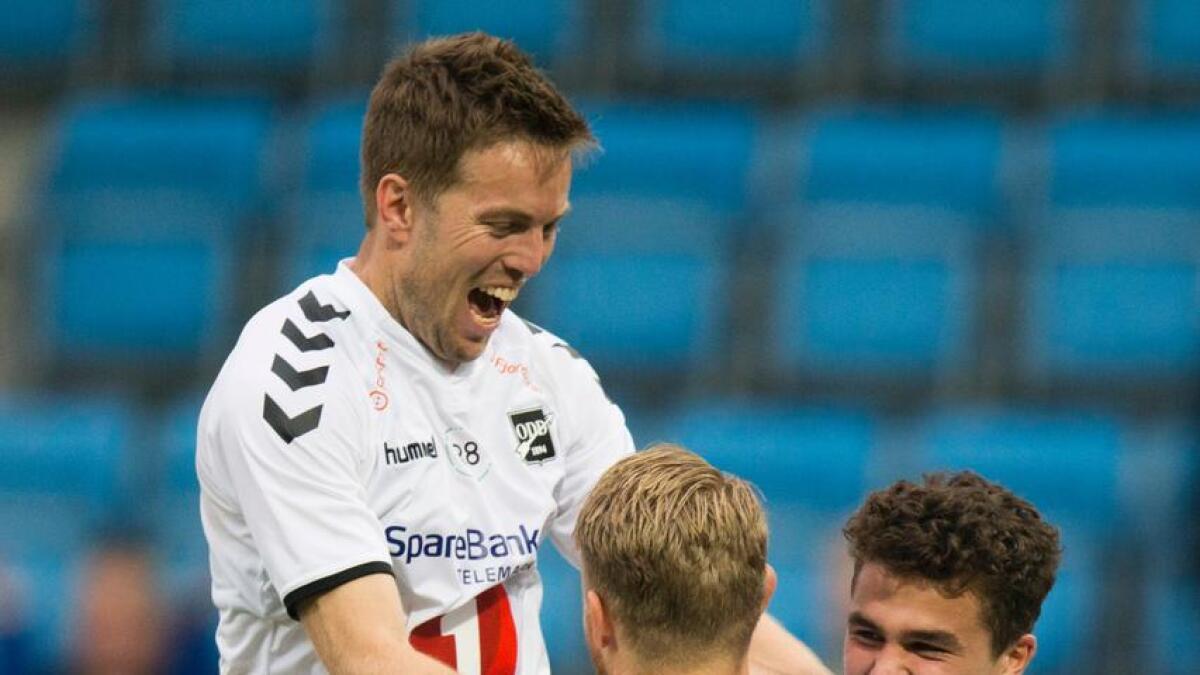 Odd vant 3-0 mot Sarpsborg da Filip Delaveris scoret to.