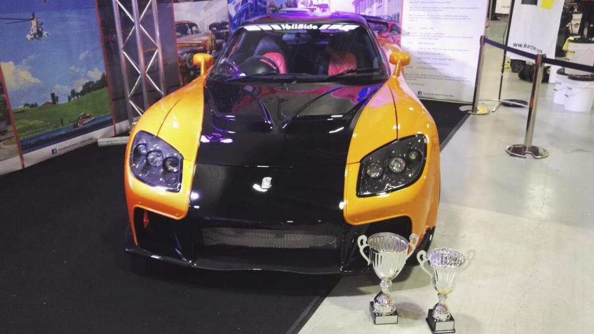 Bilen Motordilla hadde med seg på Oslo Motor Show, en 1993-modell Mazda RX7, vant både publikumsprisen og juryprisen. Begge