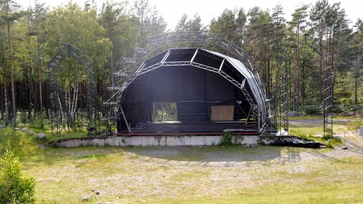 Kun ni dager før den skulle brake løs, avlyses Hove Music Festival. Her er amfiscenen slik den så ut 19. juni.
