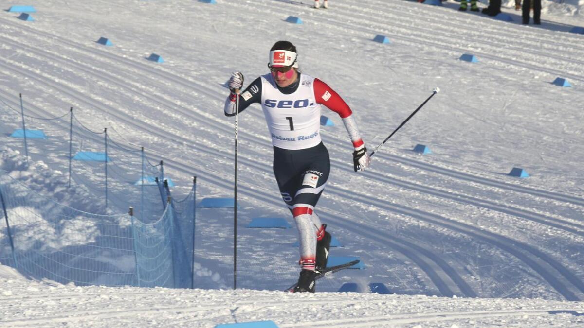 Tiril Udnes Weng gjorde det best av Nes Ski-løperne i Drammen i dag. Bildet er fra en tidligere konkurranse.