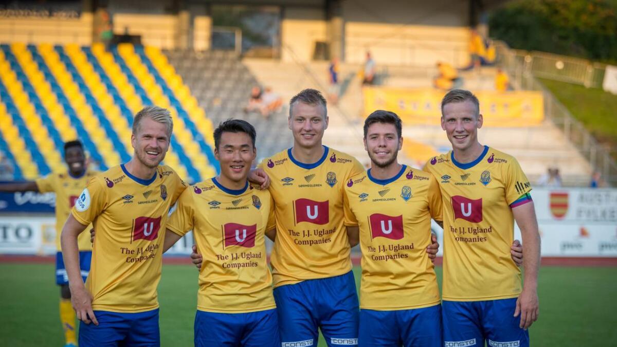 Fra venstre Daniel Aase, Thomas Zernichow, Ole Marius Håbestad, Luke Ferreira og Simon Larsen.