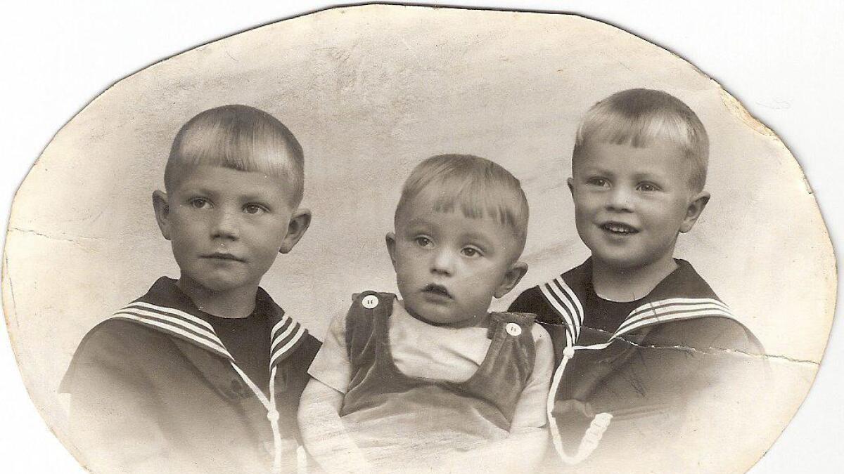 fra venstre Gunnar, Eigil (yngst) og Kjell.