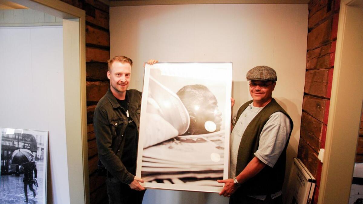 Patrick Dreuning og Peter Lukas er klare for ny utstilling.