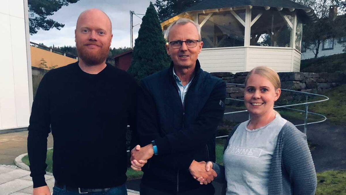 Clenn Cato Christensen (V), Svein Arne Haugen (Ap) og Linn Moseid (H).