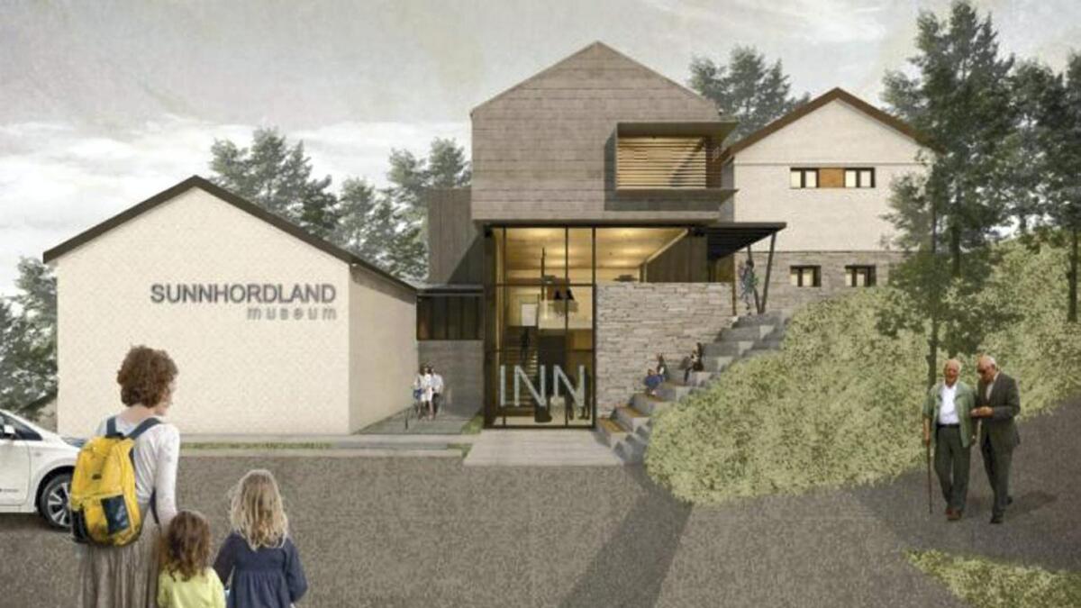Slik ser JK Arkitekter for seg at oppgraderinga av Sunnhordland Museum kjem til å sjå ut.