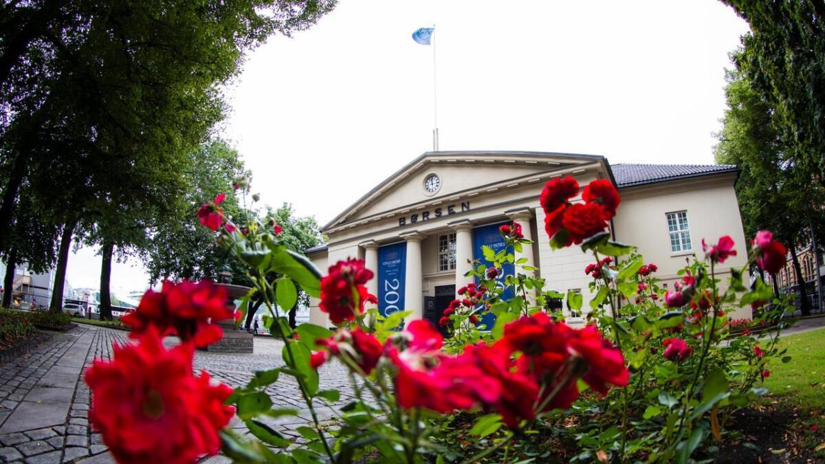 Oslo Børs har 200 års jubileum i år. Dette bildet er tatt i august i år.