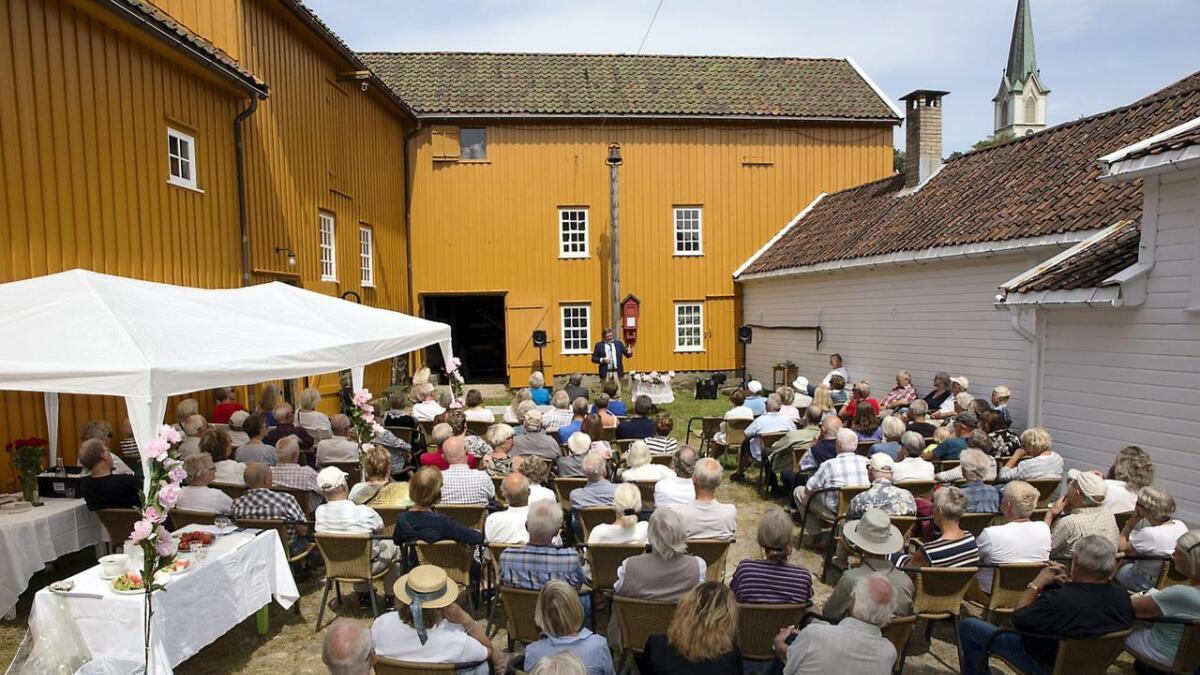 Dette bildet er fra åpningen av Lillesand by- og sjøfartsmuseum den 18. juni i rekordåret 2016.