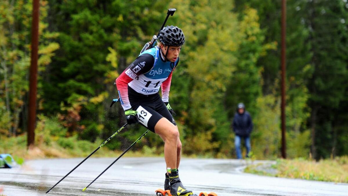 Lars Helge Birkeland var ikke fornøyd verken med prestasjonen eller plasseringen på sprinten under NM i Rulleskiskyting.