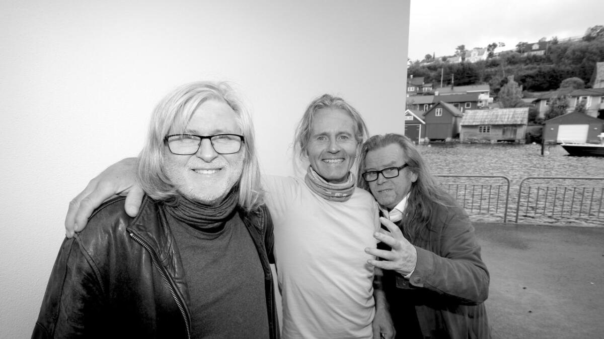 Øyvind Hægland, Leif Østrem og Magne Lunde er alle stolt over å vera del av Os-bandet Waterwagon. Onsdag skal dei tre langhåra gråluggane på releasefest i lag med resten av gjengen i bandet. Konserten går på Madam Felle i Bergen.