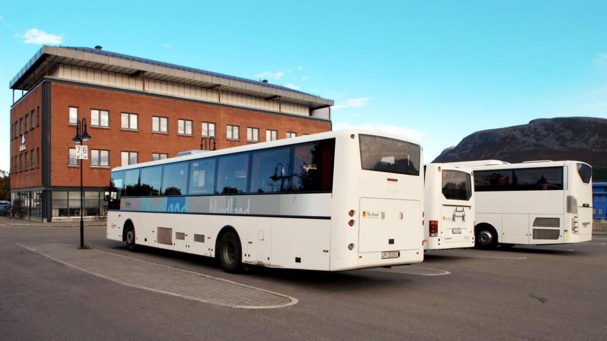 Bussterminalen på Sortland.