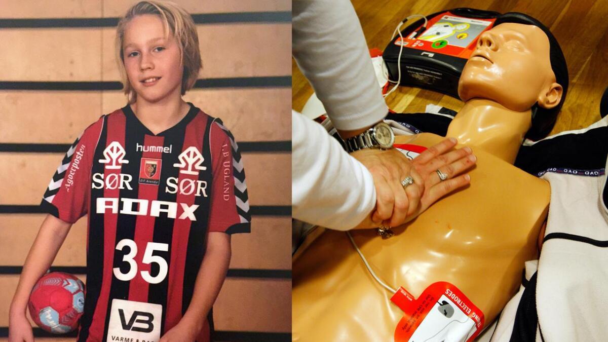 En hjertestarter som var plassert på Sør Amfi reddet etter alt å dømme livet til Magnus Olsen (12) da han fikk hjertestans midt under en håndballkamp.